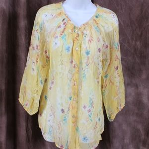 100 % Silk Sundance Button Down